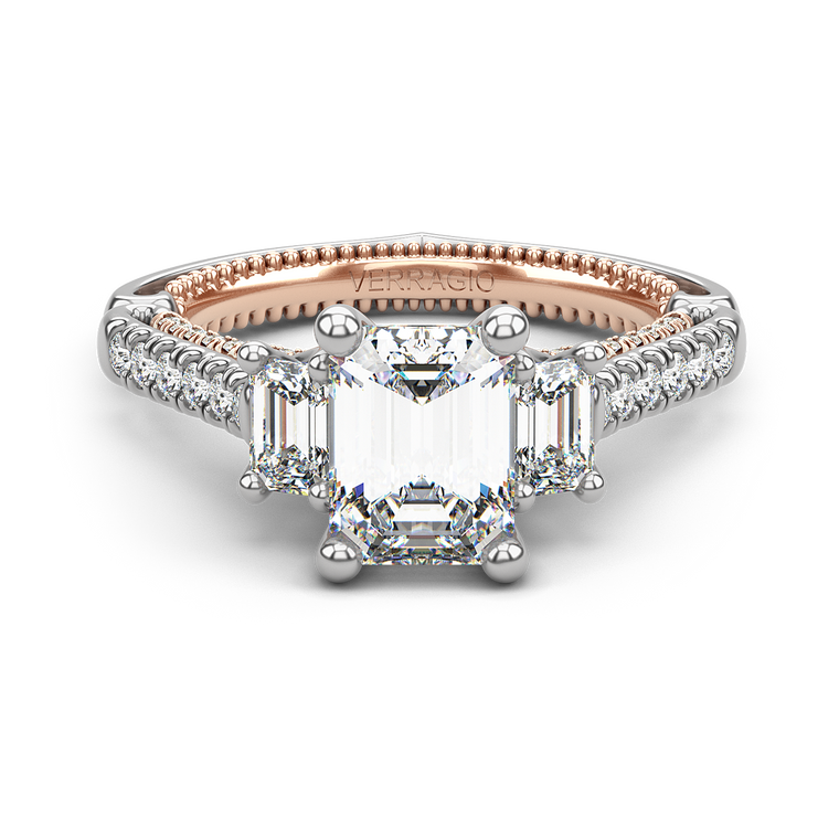 Verragio Couture 0470EM Three Stone Engagement Ring