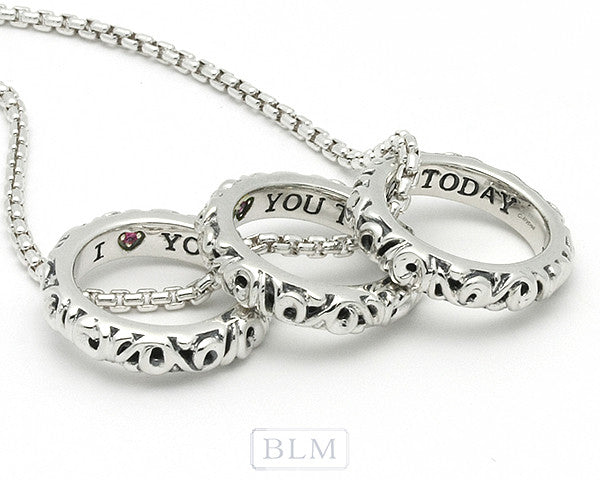 "Charles Krypell ""I love you Today Tomorrow and Forever"" Necklace"
