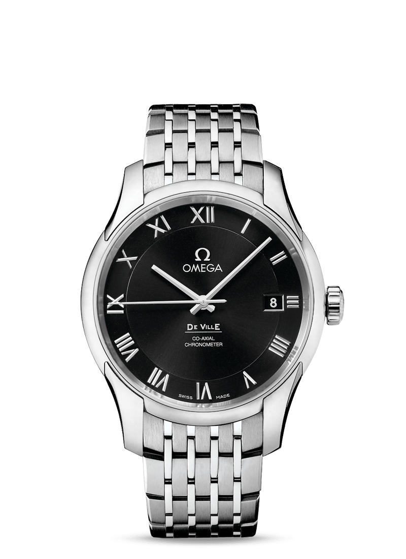 Omega De Ville Co-Axial 41mm Watch with Black Dial