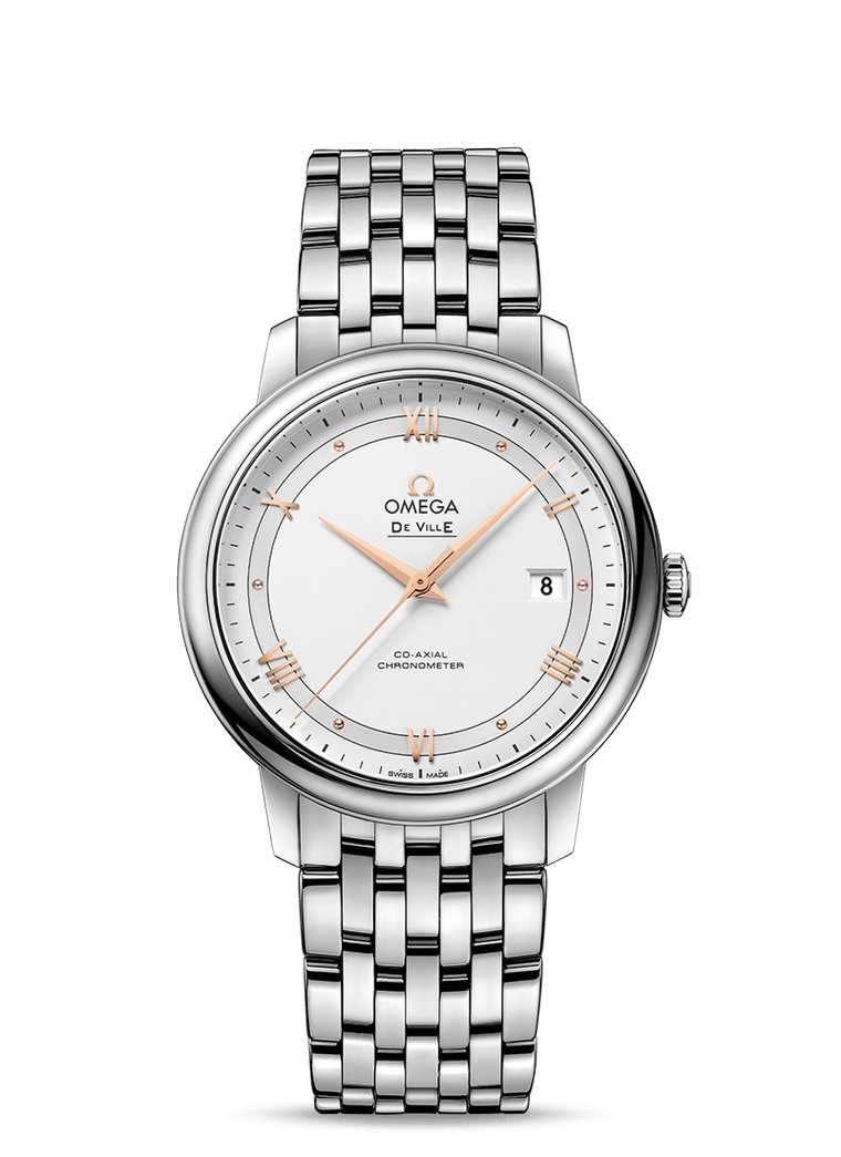Omega Prestige 'De Ville' Co-Axial 39.5mm Watch with Silver Dial
