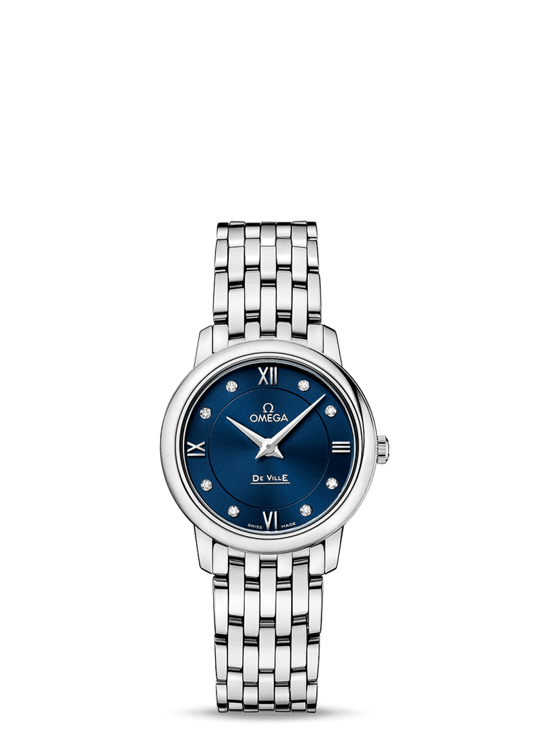 Omega Prestige 'De Ville' 27.4mm Watch with Blue Dial