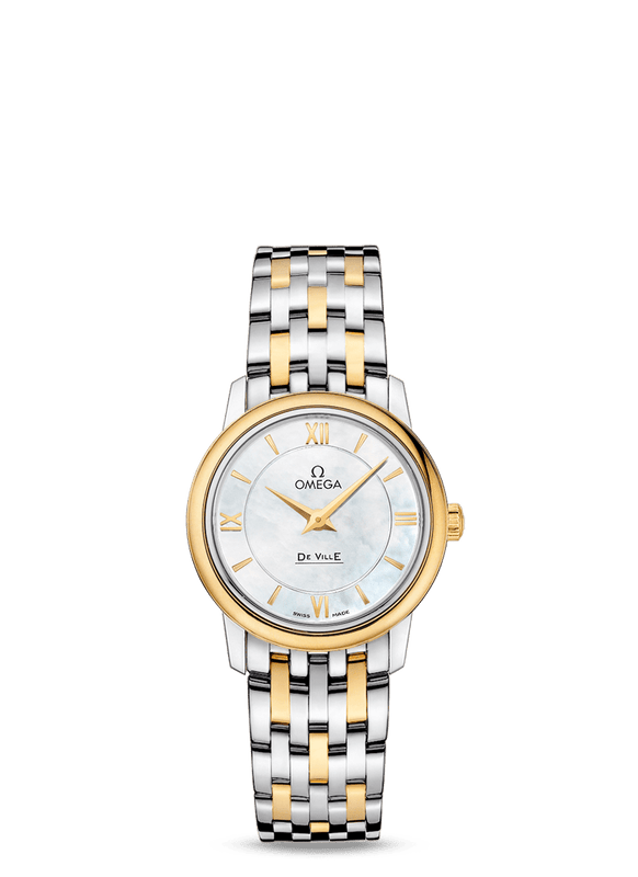 Omega Prestige 'De Ville' 27.4mm Watch with Mother of Pearl Dial