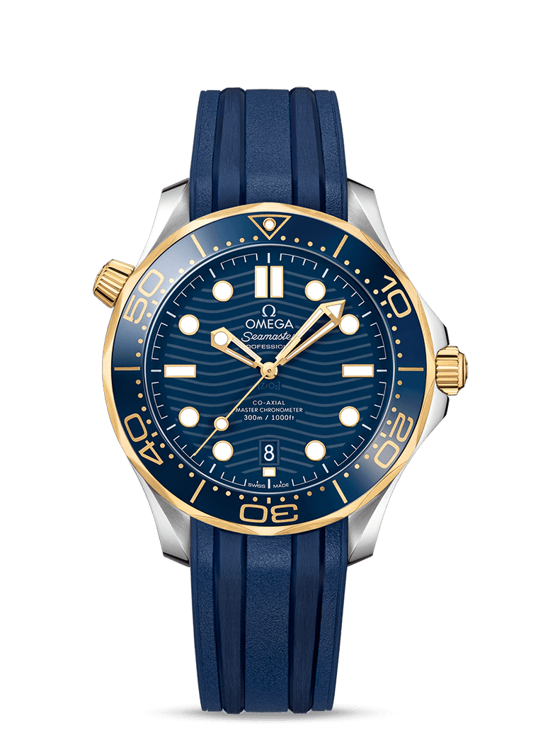 Omega 'Seamaster Diver 300M' 42mm Watch with Blue Dial
