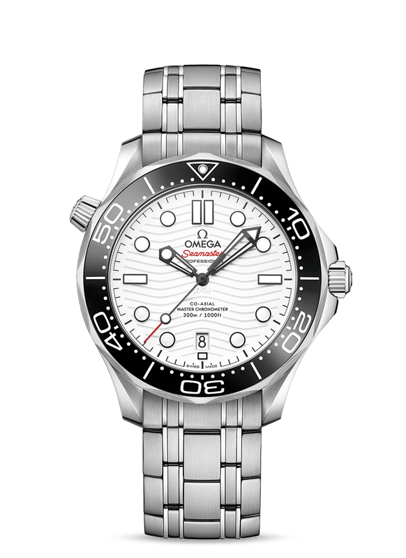Omega Seamaster Professional Diver 300M Watch with White Dial