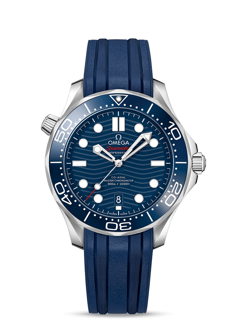Omega 'Seamaster 300M Diver Co-Axial' 42mm Watch with Blue Dial