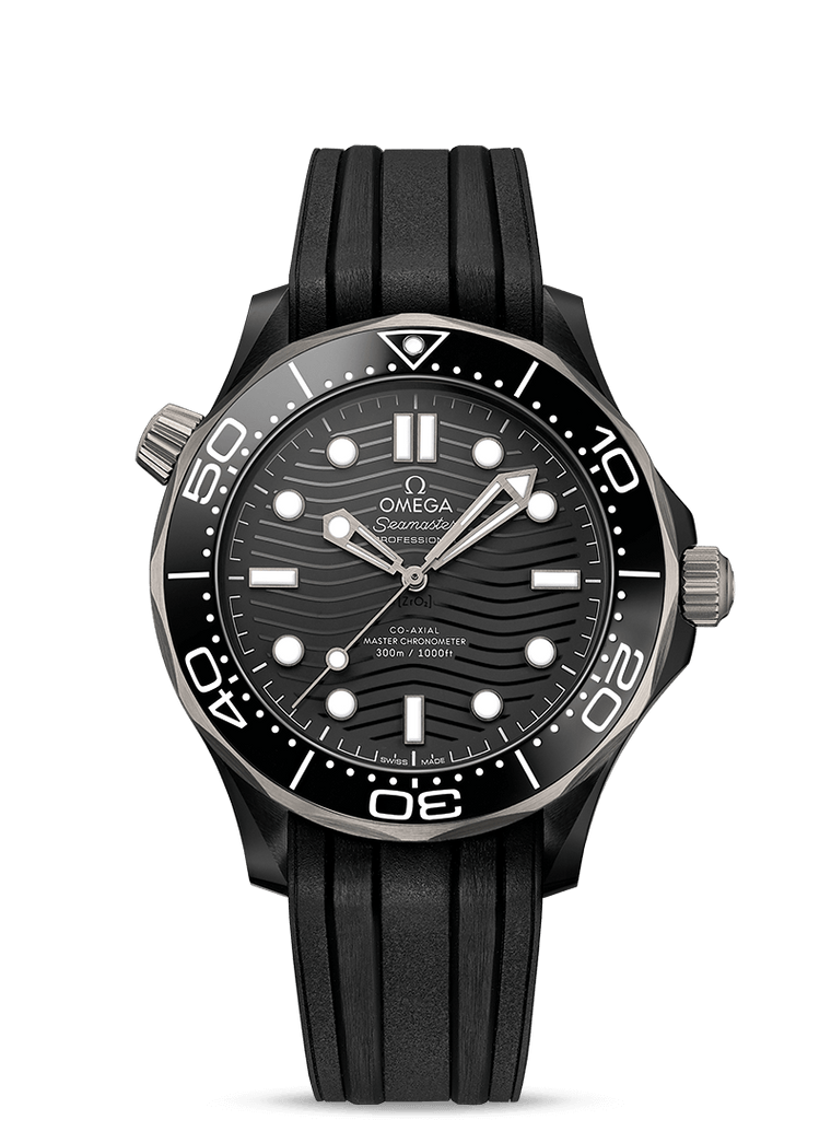 Omega 'Seamaster Diver 300M' 43.5mm Watch with Black Dial