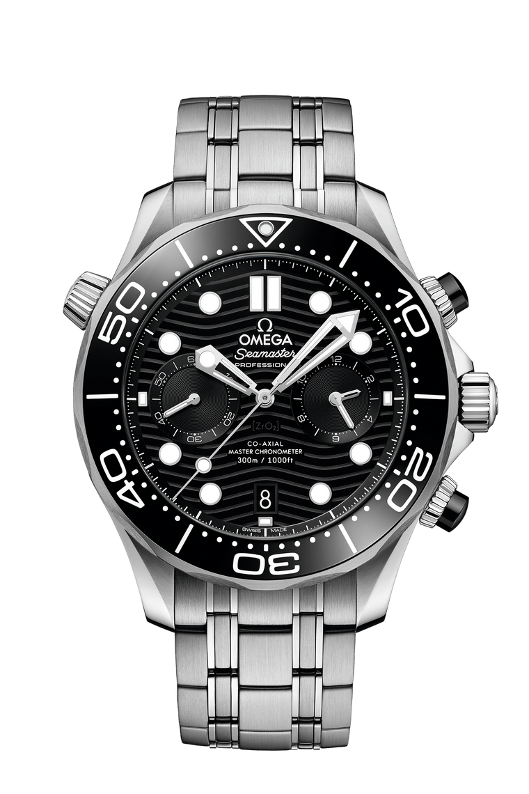 Omega Seamaster 300M Chronograph Watch with Black Dial
