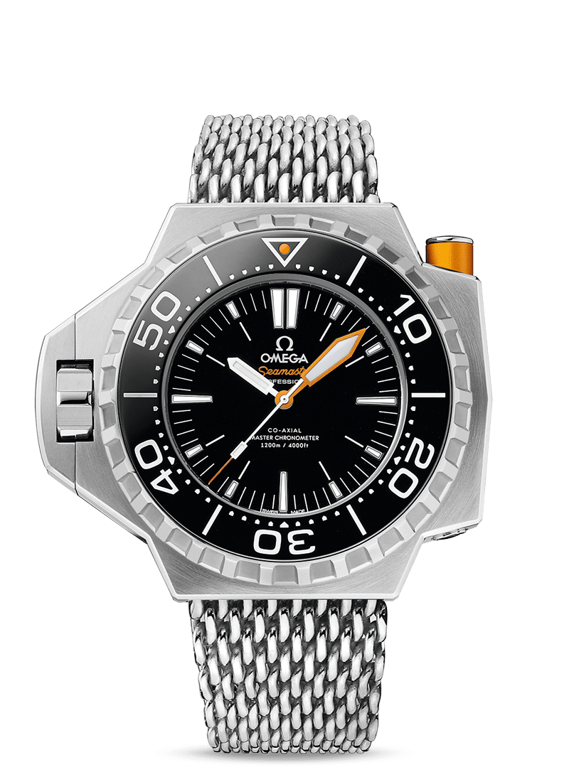 Omega Seamaster Ploprof Watch with Black Dial