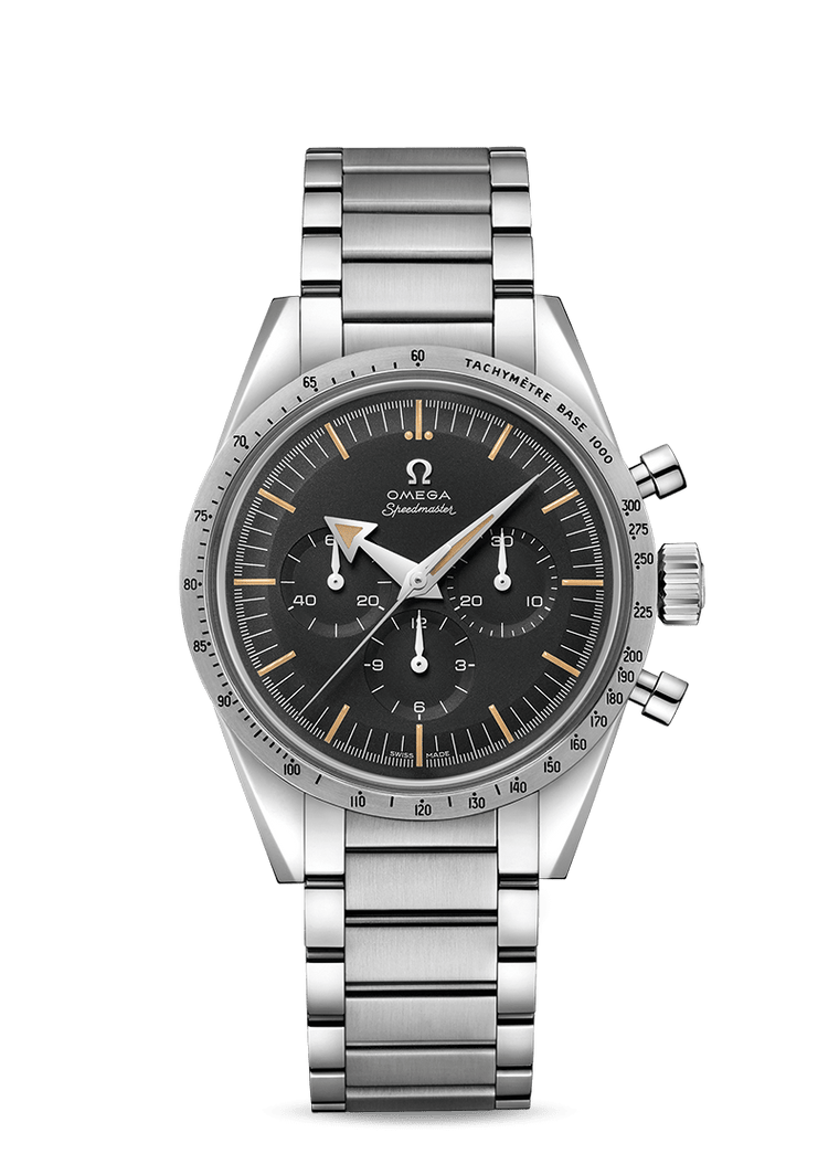 Omega Speedmaster 57' 38.6mm Watch with Black Dial