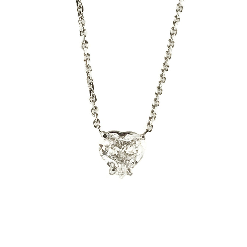 BLM 0.56 CT Heart Cut Diamond Pendant