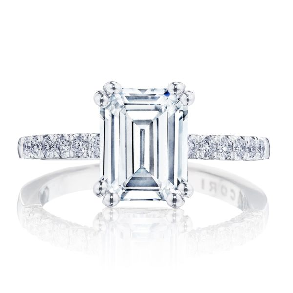 Tacori Coastal Crescent Emerald Cut Engagement Ring