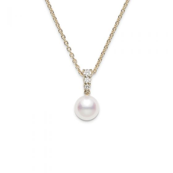 Mikimoto 'Morning Dew' Pearl and Diamond Necklace
