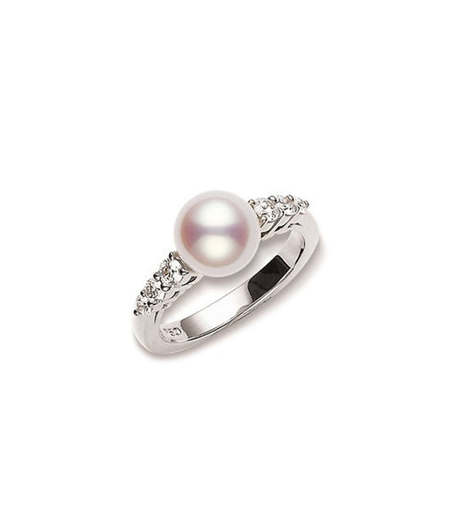 Mikimoto Morning Dew Akoya Cultured Pearl Ring