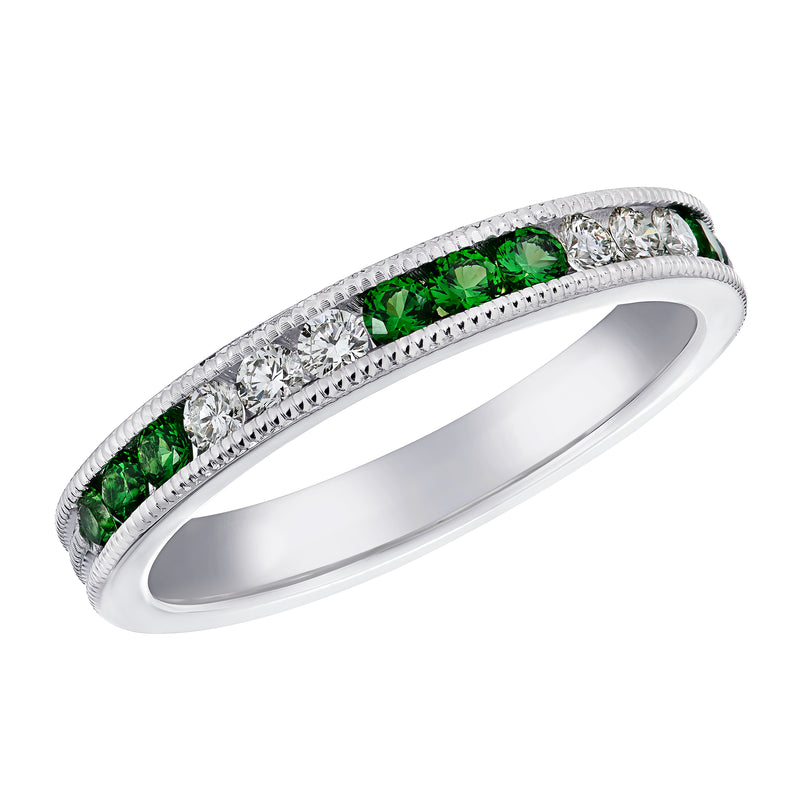 Brent L. Miller Signature Diamond and Tsavorite Ring