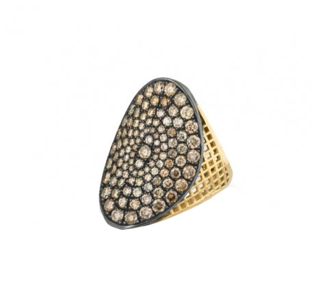 Ray Griffiths Regency Ring with Champagne Diamonds