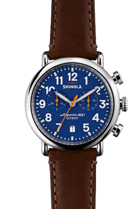 Shinola 'The Runwell' 41mm Chronograph Watch with Blue Dial