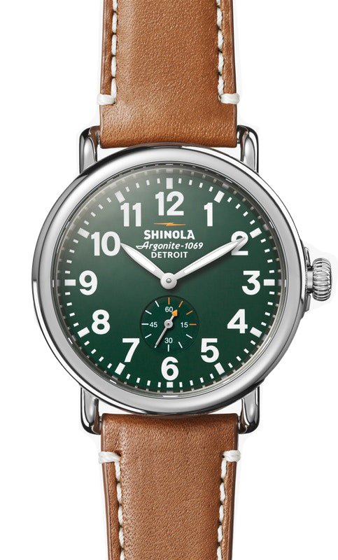 Shinola 'The Runwell' 41mm Watch with Green Dial