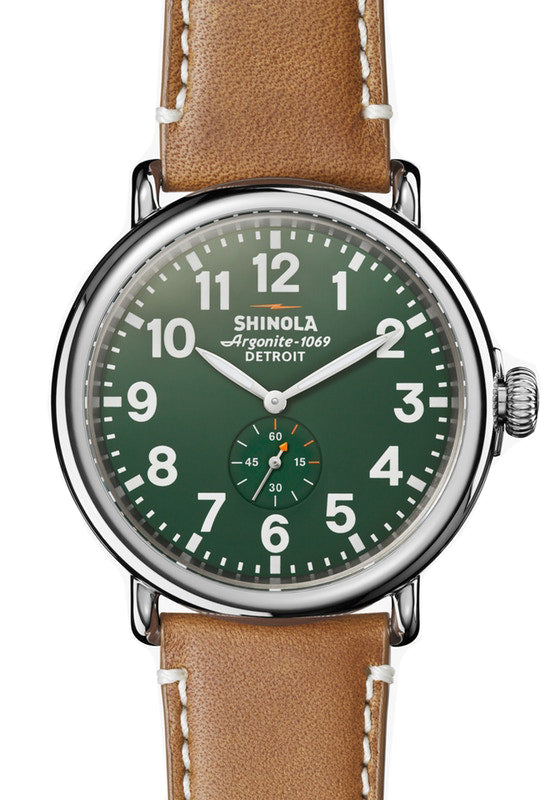 Shinola 'The Runwell' 47mm Watch with Green Dial