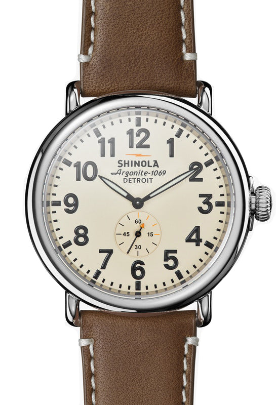 Shinola Runwell 47mm Watch with Cream Dial