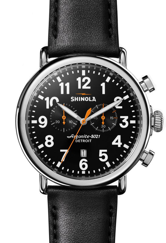 Shinola Runwell Chrono 47mm Watch with Black Dial