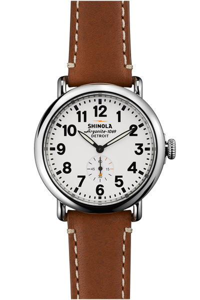 Shinola 'The Runwell' 41mm Watch with White Dial