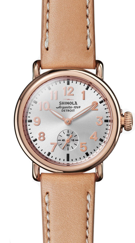 Shinola Runwell 36mm Watch with Silver Dial