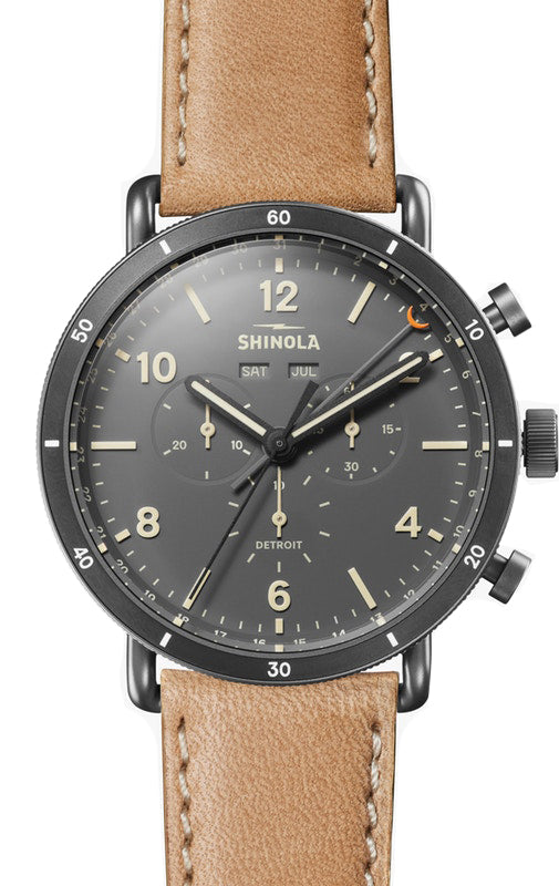 Shinola Canfield Sport 45mm Watch with Black Dial
