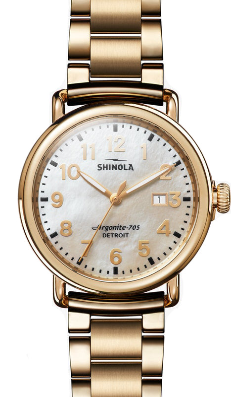 Shinola Runwell 41mm Watch with Mother of Pearl Dial