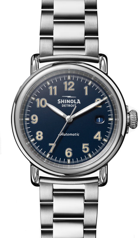Shinola Runwell Automatic 39.5mm Watch with Blue Dial