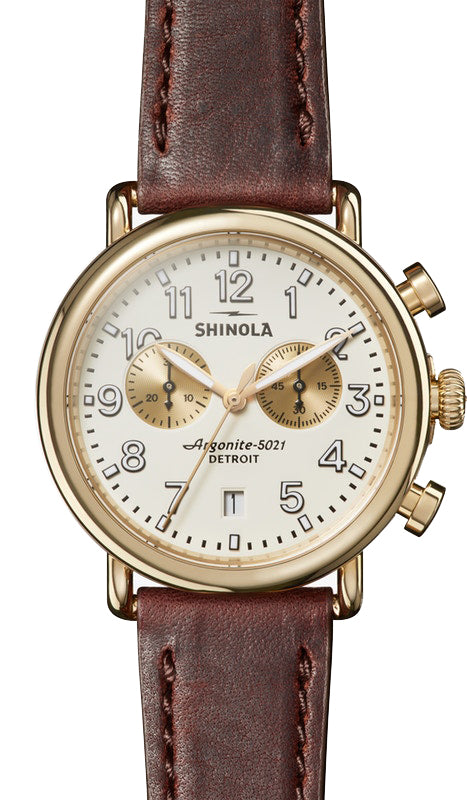 Shinola Runwell Chrono 41mm Watch with Ivory Dial