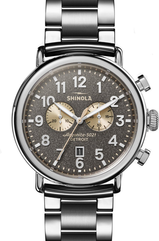 Shinola Runwell Chrono 47mm Watch with Grey Dial