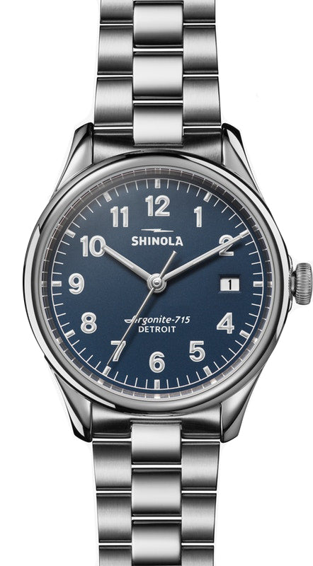 Shinola Vinton 38mm Watch with Midnight Blue Dial