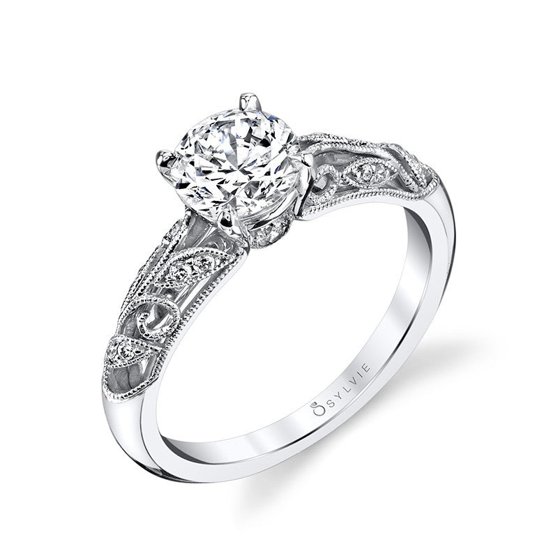 Sylvie 14K Vintage Inspired Engagement Ring