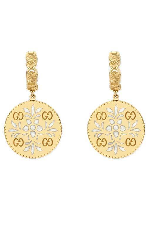 Gucci 18k Yellow Gold Bloom Icon Earrings