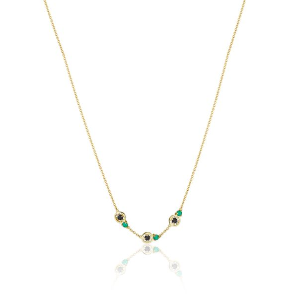 Tacori 'Petite Gemstone' Black and Green Onyx Necklace
