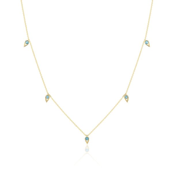 Tacori 5 Station London Blue Topaz Necklace