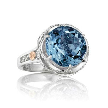 Tacori 'Island Rains' London Blue Topaz Crescent Ring