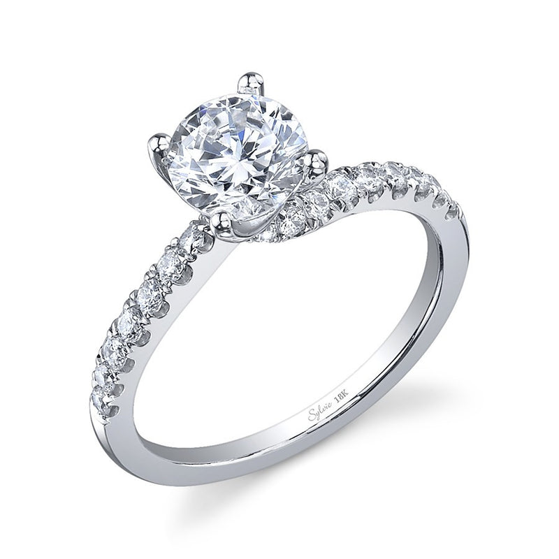 Sylvie 14K Diamond Solitaire Twist Engagement Ring