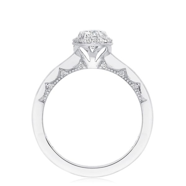 Tacori Coastal Crescent Oval Halo Engagement Ring