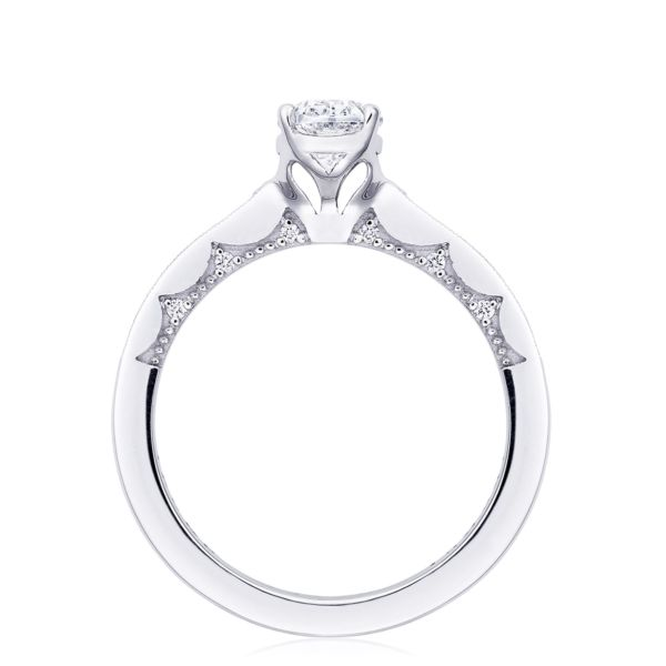 Tacori Coastal Crescent Oval Engagement Ring with Side Diamonds
