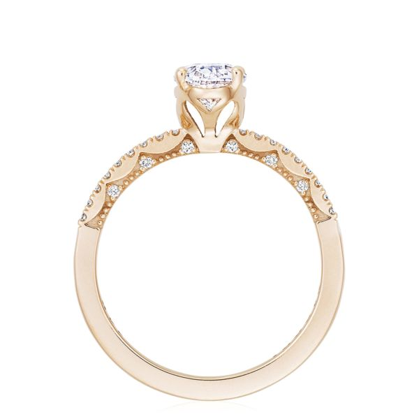 Tacori P104 Coastal Crescent 14k Rose Gold Oval Engagement Ring