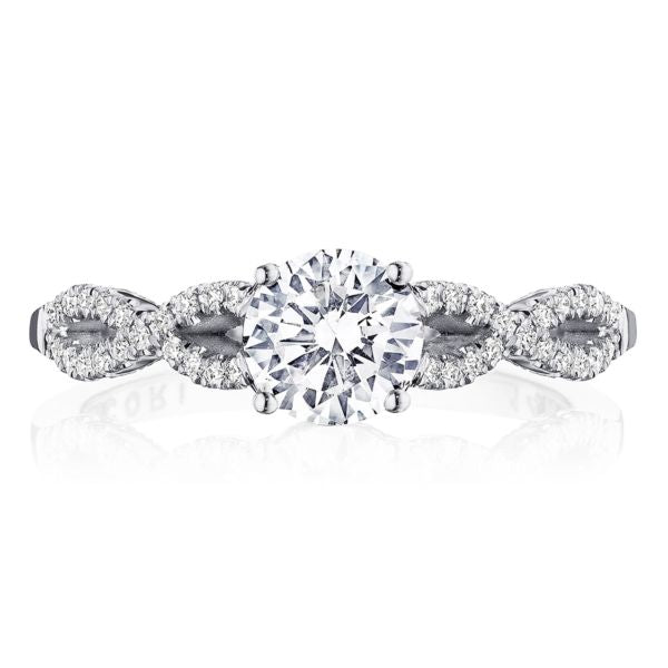 Tacori Coastal Crescent Twisted Shank Engagement Ring