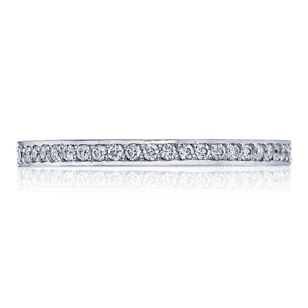 Tacori 2630 18k White Gold Wedding Band with Diamonds