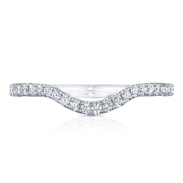 Tacori 2561 Petite Crescent Contour 18k White Gold Wedding Band