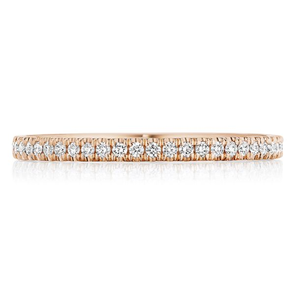 Tacori Coastal Crescent Rose Gold Wedding Band with Diamonds