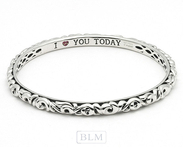 "Charles Krypell ""I love you Today, Tomorrow, and Forever"" Today bracelet"