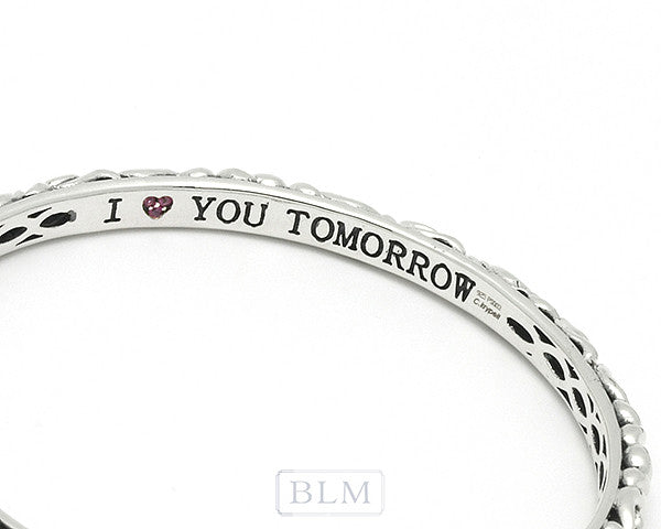 "Charles Krypell ""I love you Today, Tomorrow, and Forever"" Tomorrow bracelet"