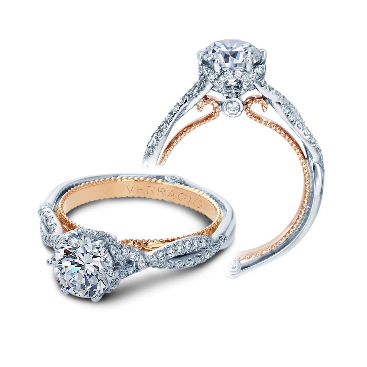 Verragio Couture-0424OV-TT Engagement Ring