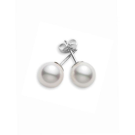 Mikimoto 10mm White South Sea Pearl Stud Earrings