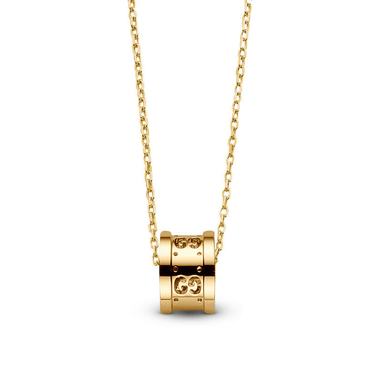 Gucci Icon Twirl Barrel Pendant Necklace